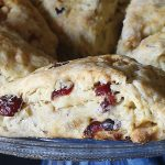 gluten free cranberry chocolate scones