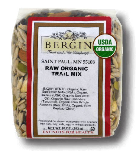 Bergin Fruit and Nut Company Raw Organic Trail Mix