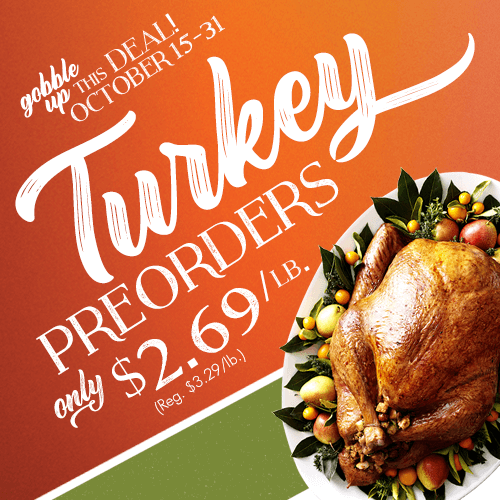 Turkey Preorders October 15-31
