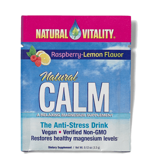 Natural Vitality Raspberry-Lemon Calm Packet