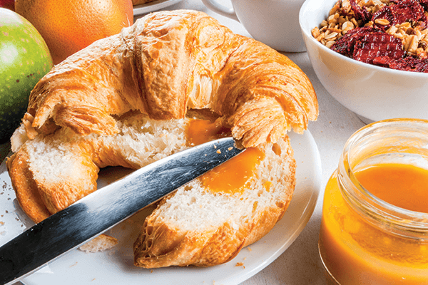 Croissant with Orange Honey Butter